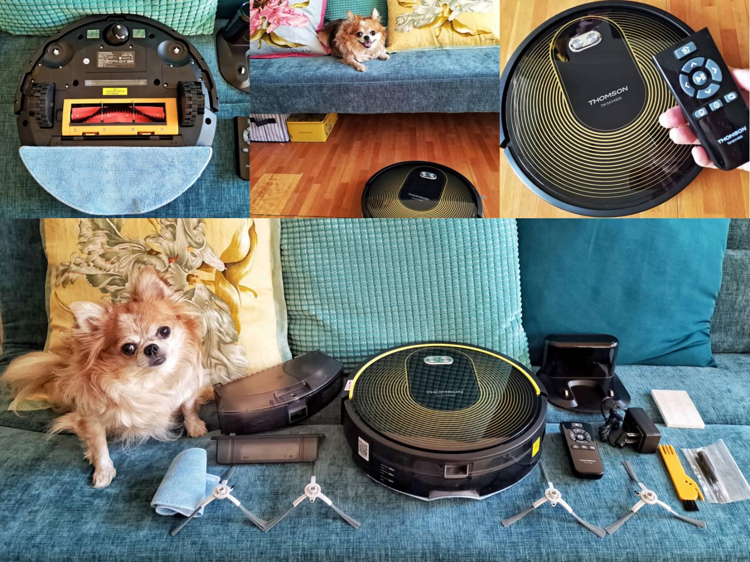 THOMSON智能WIFI掃地機器人開箱 紫外線殺菌+掃吸擦拖+吸力強+低噪音 98%全屋高覆蓋清掃 吃貨旅遊作家水靜葳